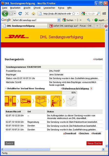 ein paket auf st dtetour durch deutschland mit dhl. Black Bedroom Furniture Sets. Home Design Ideas